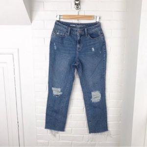 {Old Navy} Distressed High Rise Mom Jeans